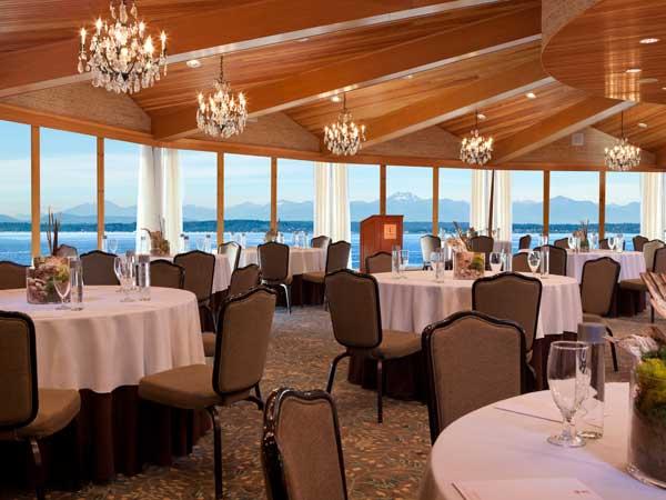 Ballroom with views of Puget Sound